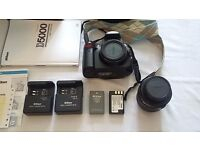 Nikon D5000 Digital SLR Camera / AF-S DX ED 18-55mm Lens f/3.5-5.6 MINT CONDITION