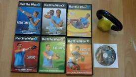 Kettleworx Dvd and kettle bell set