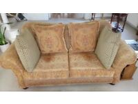 Two x 3 Seat Sofas. Plus 8 Cushions. Excellent Condition!