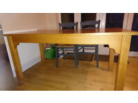 *Reduced* Solid Danish wood kitchen / dining table from Habitat, seats 6