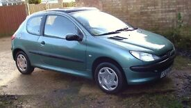 Peugeot 206 H D I IN EXCEPTIONAL CONDITION ALL ROUND 12 MONTH M O T
