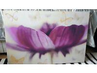 Extra large purple flower canvas