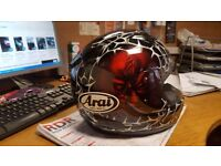 Arai sinister small helmet with clear and black visor