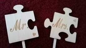 *BRAND NEW* rustic wedding/vow renewal cake topper
