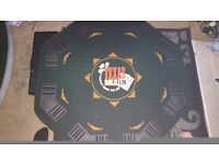 Poker table and chips new