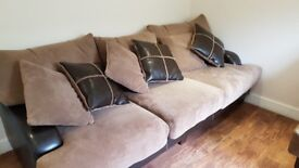 Sofa Suite with large pouffe/footstool