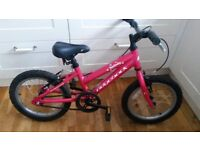 Good Ridgeback Melody 16 girls alloy mountain bike 4- 7 yrs Durham hot met pink