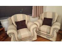 ** 3 seater sofa with 2 chairs**