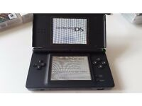 Nintendo DS Lite Black Console with charger, travel case, screen protectors and 3 games