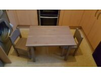 childrens table and x2 chairs