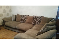 CORNER SOFA UNIT AND TWO SEATER SETTEE (one sofa coverts to bed)