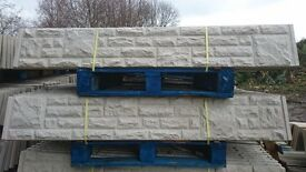Concrete Gravel Boards £6.00 Each.Millers Concrete Fencing Supplies S704PU