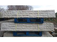 Concrete Gravel Boards £6.00 Each.Millers Concrete Fencing Supplies S704PU