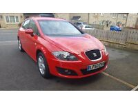 2010,Seat Leon 1.9(1896cc) TDI 105 BHP in metallic Red ,5 door HATCHBACK,FSH,!Hpi clear!Must view