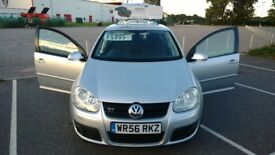 VOLKSWAGEN GOLF GT TDI 2.0L DIESEL SILVER 5DR 2006/2007 ONLY 47K MILES! GREAT CONDITION! ONLY £3500!
