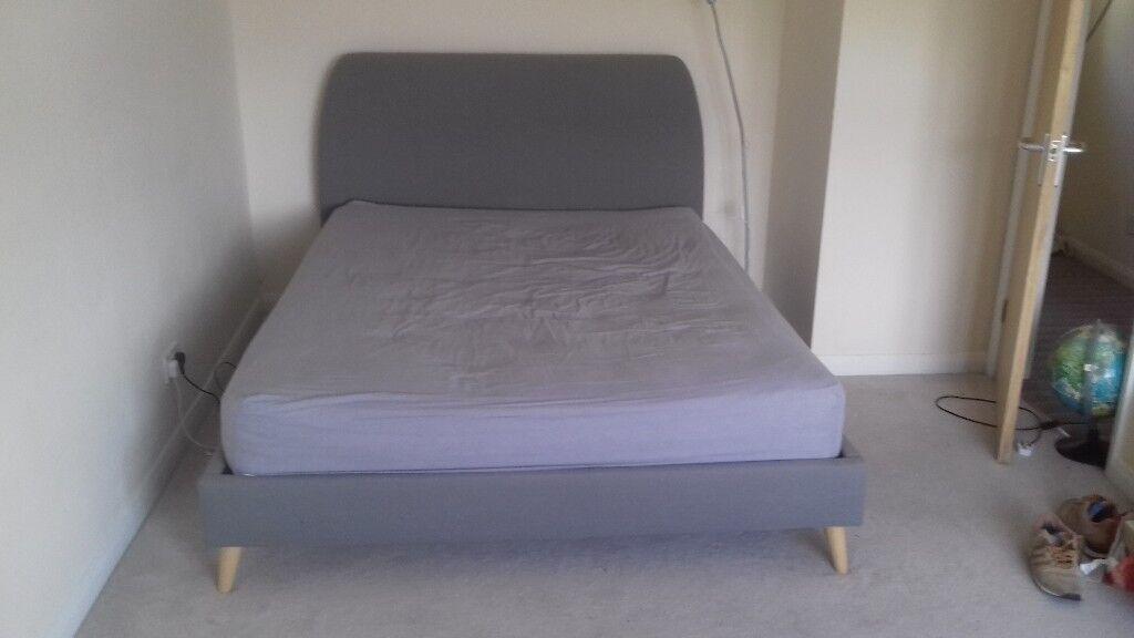 f8adcb512874 KING size John Lewis upholstered BED frame (Simba) and mattress ...
