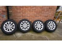 MK5 VW GOLF ALLOY WHEELS WITH GOOD TYRES 195/65 WILL FIT 2004- 2008