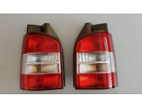 VW T5 rear lights with Gold Carbon Dip TAIL GATE ONLY VANS £10 the pair