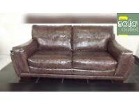 Designer mocha 3 seater sofa + chair + stool (348) £899