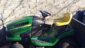 John deere x110 ride on mower garden tractor