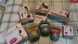 Fitness equipment - kettle bells etc