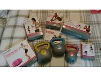 Fitness equipment - kettle bells etc