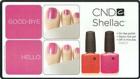 CND shellac & Sienna X spray tan