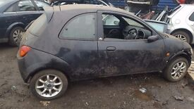 FORD KA 2007 IN BLACK FOR BREAKING ALL PARTS AVAILABLE