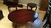Antique Coffee Table End Table Set SOLID MAHOGANY