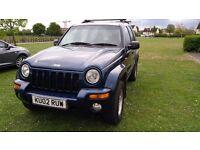 2002 jeep cherokee limited SPORT, full leather, 2.5 diesel, low mileage, long mot £1195 4x4