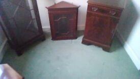 Mahogancy Corner Wall Cabinet