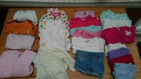 6-9 months baby girls bundle clothes