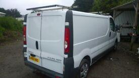 VAUXHALL Vivaro 113 2900 Cdi 2Ltr Turbo Diesel LWB Van, Side Sliding Door, 82,000, 2011-61 plate