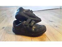 Clarks. Stompo Boys black leather shoes... Like new. Size UK 12G