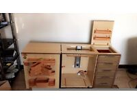 Horn Sewing Machine Cabinet with Automatic Air Lift - NEWHOME ###BEAUTIFUL