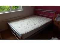 Double Bed With Metal Frame Complete With Mattress