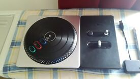PS3 Controller ,2 Song player games, DJ Hero Controller, Start the Party, Play the mixes, Bluetooth
