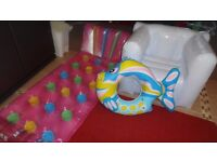 3 inflatables for beach or pool or garden,