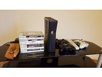 Microsoft Xbox 360 4Gb Slim + 2 controllers + 10 games