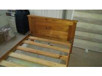 Pine Single Bed Frame