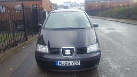 SEAT ALHAMBRA STYLANCE 1.9 TDi. PRICED REDUCED £1195. MPV. BLACK. AUTOMATIC. DIESEL
