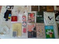 job lot of magic tricks books and dvd