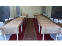 Table & Chairs, Marquees/Tent , Speakers, Heaters, Flooring For HIRE