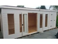 20x10ft Combination summerhouse/shed lined and insulated