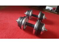 Dumbbells and bench