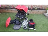 Bugaboo Donkey Duo in Red with EXTRAS!
