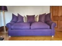 REDUCED FOR QUICK SALE: LUXURIOUS 2 X 3 SEATER SQUISHY SOFA