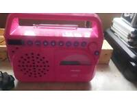 BUSH PINK CD/RADIO WITH ADAPTOR