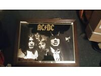 Rare Ac/dc highway to hell mirror from late 70,s early 80's