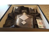 Italian crystal decanter set with 2 whisky glasses by Franco Vetrerie